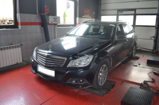 MERCEDES W204 C200 2.2CDI 136KM chip tuning